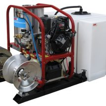 Petrol Hot Water Skid Mount Pressure Cleaner 4018P- including trailer